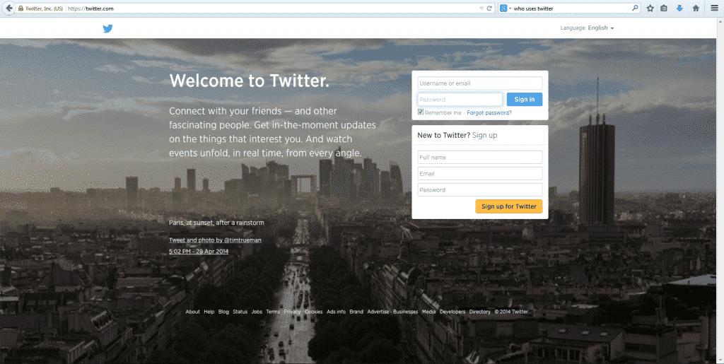 1. Twitter Website