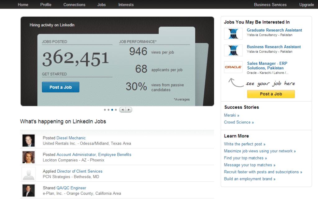LinkedIn Post A Job