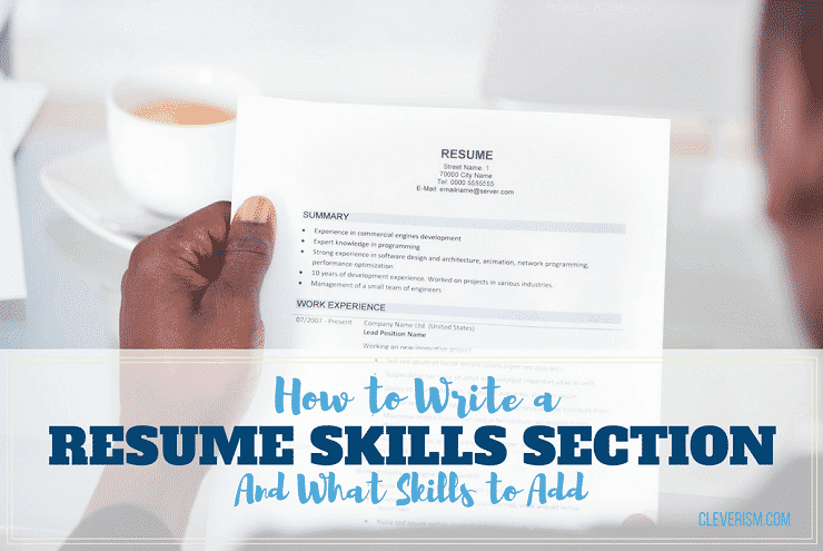 how to write a resume skills section examples of what to put on a