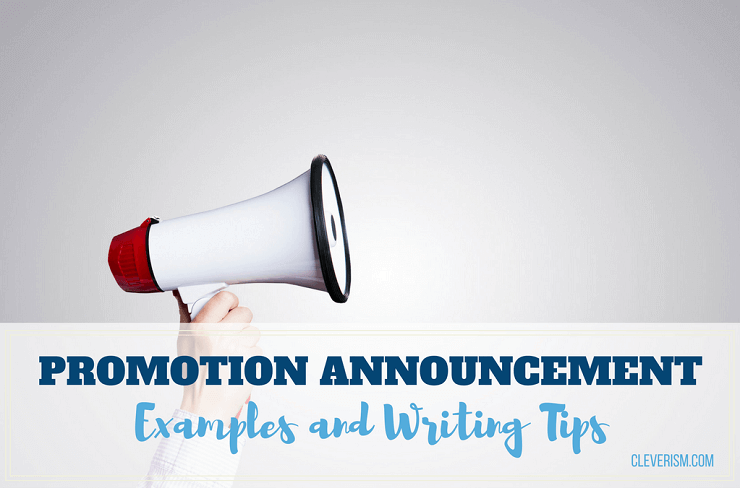 Promotion Announcement Examples And Writing Tips