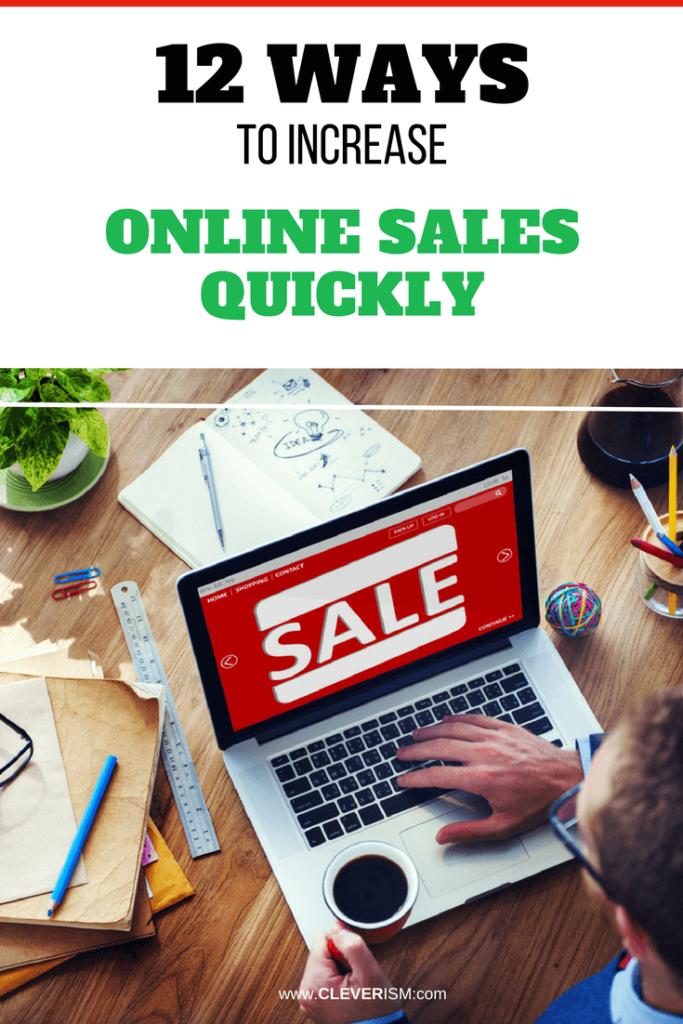 12 Ways to Increase Online Sales Quickly