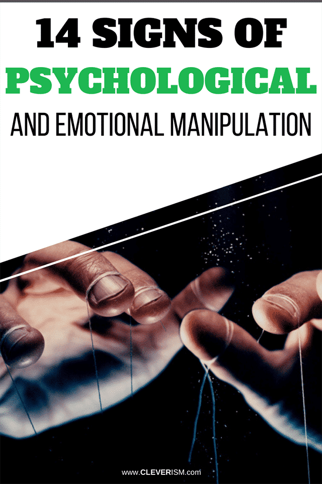 14 Signs of Psychological and Emotional Manipulation