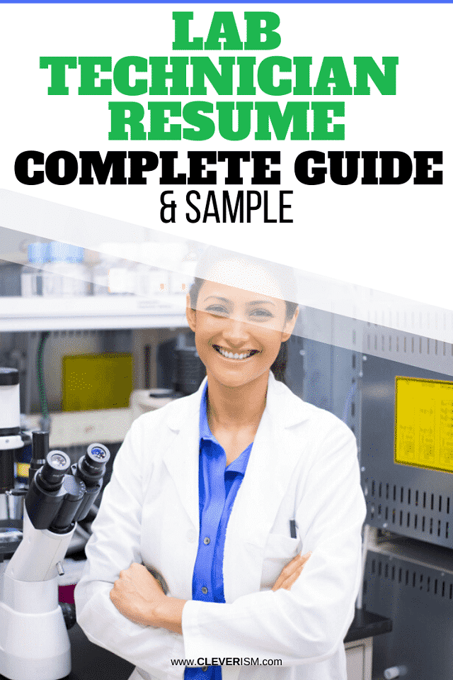 Lab Technician Resume: Sample and Complete Guide