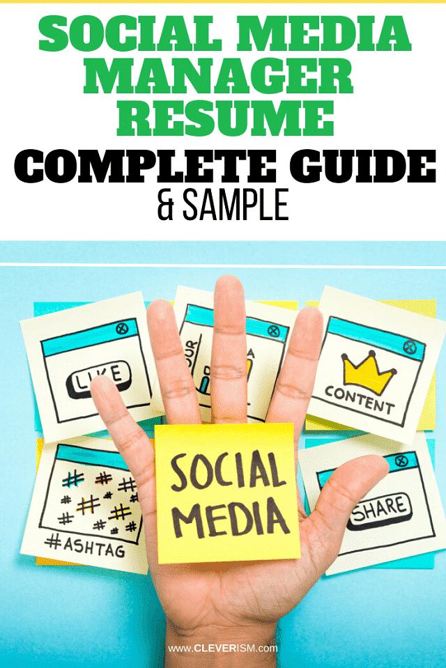 Social Media Manager: Sample & Complete Guide
