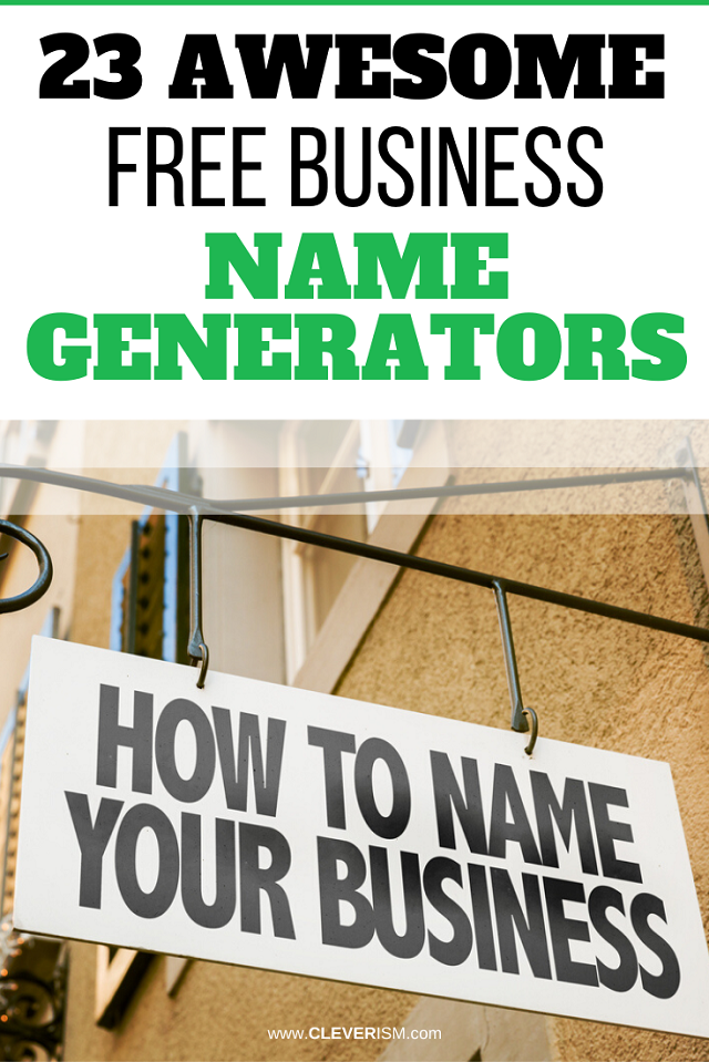 23 Awesome Free Business Name Generators