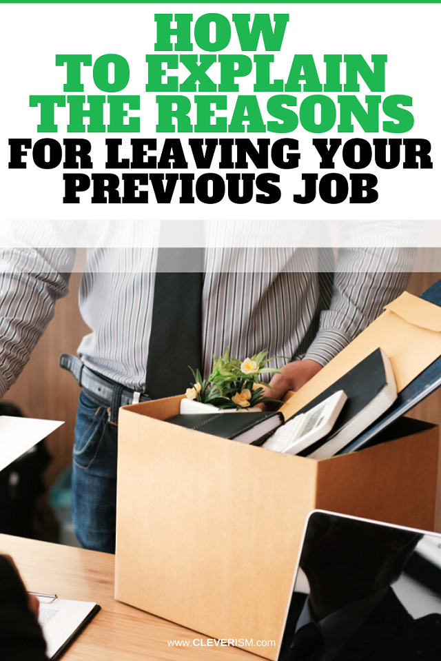 How to Explain the Reasons for Leaving Your Previous Job