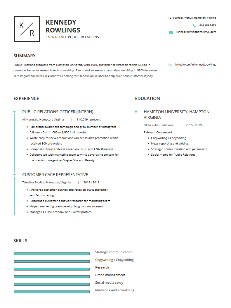 public relations resume examples template and resume
